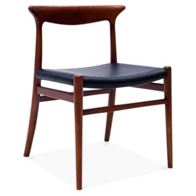 Duke Walnut Dining Chairs Front Angle
