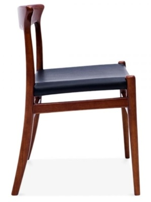 Duke Walnut Dining Chairs Side View
