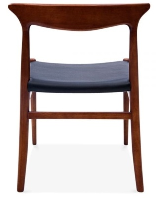 Duke Walnut Dining Chairs Rear View
