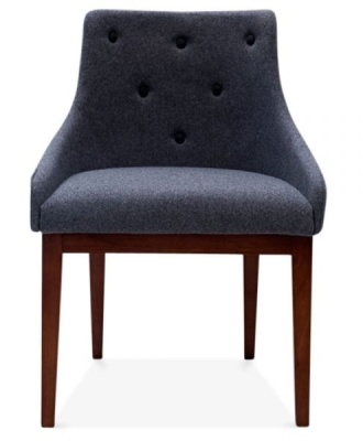Jolly Designer Chair In Grey Front Shot