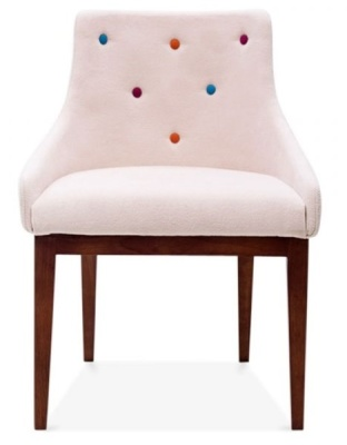 Jolly Dining Chair In Pastel Pink Front View
