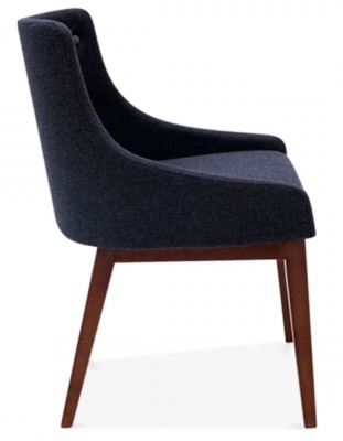 Joly Dining Chair In Dark Grey Side View