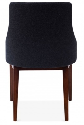 Jolly Designer Chair In Dark Grey Rear View