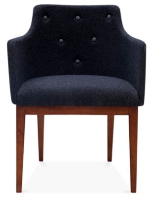 Jolly Designer Armchair In Dark Grey Front View