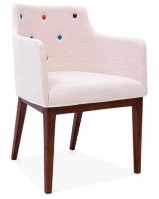 Jolly Designer Armchair In Pastel Pink Front Angle
