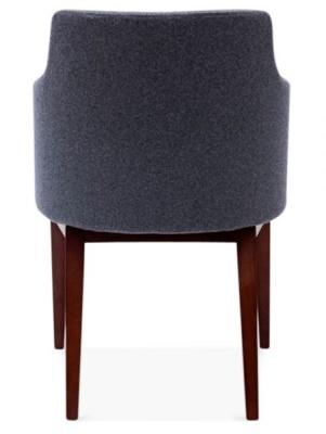 Jolly Designer Arm Chair In Grey Rear View