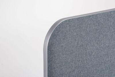 Delta Desk Screen With Curved Corners 2