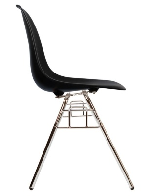 Eames Dss Chair In Black Side View