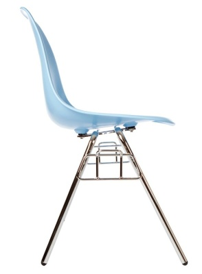 Eames Dss Chair In Light Blue Side View