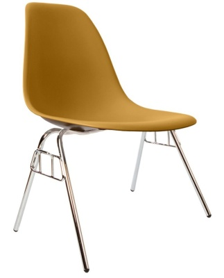 Eames Inspred Ds Chair Gold Shell Angle View