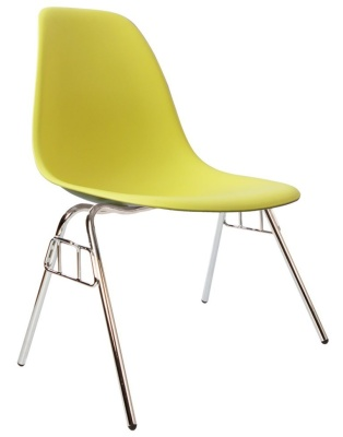 Eames Dss Chair In Lime Angle View