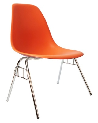 Eames Dss Chair In Orange Angle View