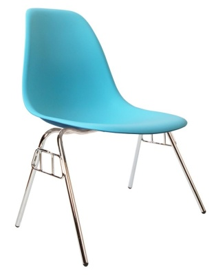 Eam,es Dss Chair In Pearl Angle View
