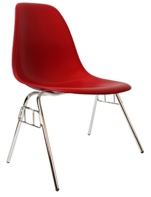Eames Dss Chair In Red Angle View