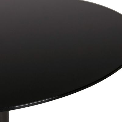 Tulip Black Glass Table Top Detail