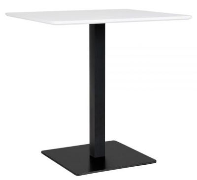 Curzon White Top And Black Base Table V2