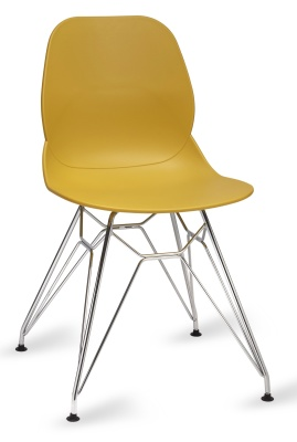 Mackie Chair With A Pyramid Frame Mustard