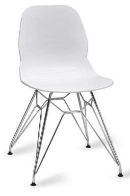 Mackie Chair With A Pyramid Frame N White