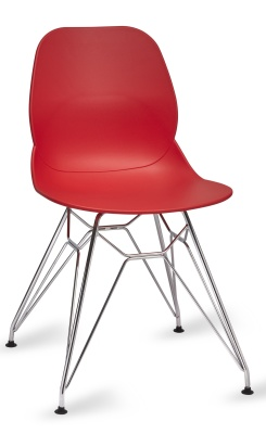 Mackie Chair With A Pyramid Frame In Red