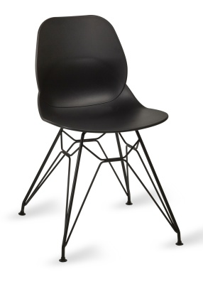 Mackie Pyramid Chair Black Shell Black Frame