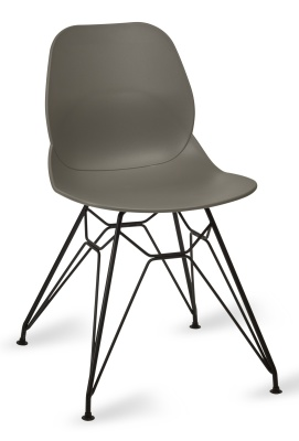 Mackie Pyramid Chair Grey Shell Black Frame