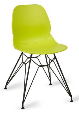 Mackie Pyramid Chair Lime Green Shell Black Frame
