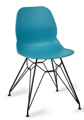 Mackie Pyramid Chair Turquoise Shall Black Frame
