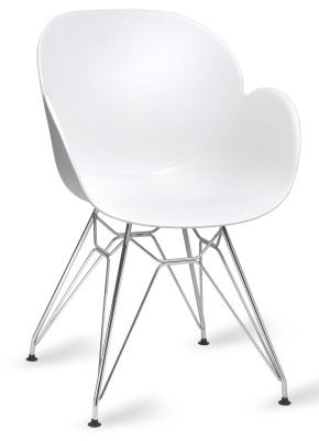 Mackie Pyramid Armchair White Shell