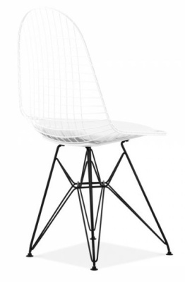 Eames DKR Chair In White With A Black Frame