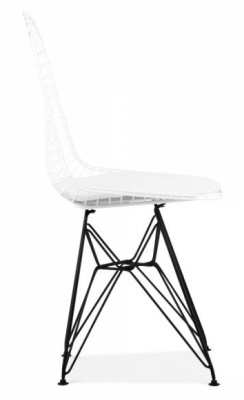 Eames Dkr Chair With A White Shell And Black Frame