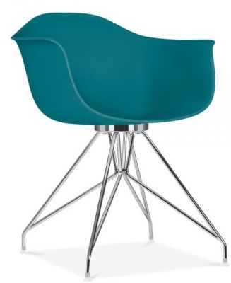 Memot Chair With A Teal Shell Front Angle