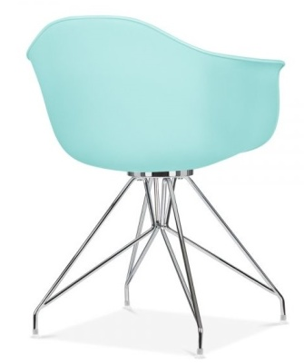 Memot Chair With A Light Blue Shell Rear Angle