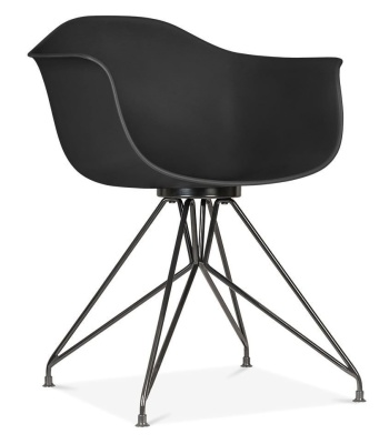 Memot Chair Wioth A Black Shell And Black Shell Front Angle View