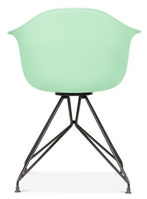Memot Chair With A Pastel Green Shell And Black Frame Rear View