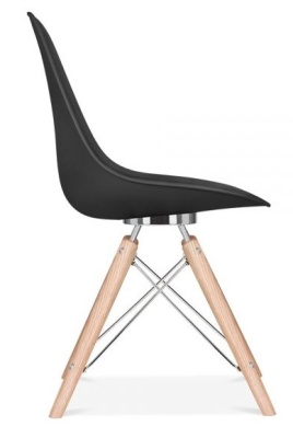 Antonaq Designer Chair Side View Black Shell