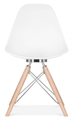 Acona Designer Chair Front View White Shell