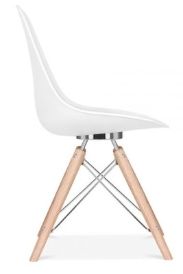 Acona Chair White Shell Side View