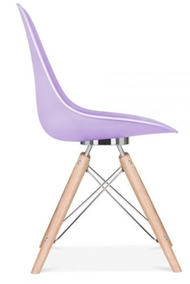 Acona Designer Chair With A Lavender Shell Side View