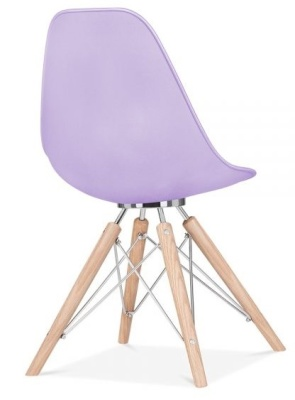 Acona Chair Lavender Shell Rear Angle