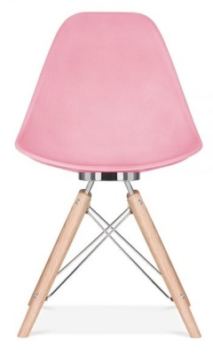 Acona Chair In Pink Front View