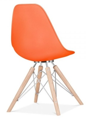 Acona Chair Orange Shell Rear Angle