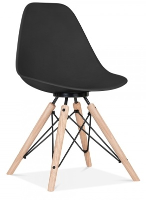 Antona ChairBlack With Black Frame Front Angle