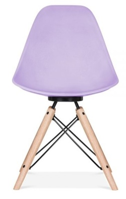 Antona Chair In Lavender With A Black Frame Rear View