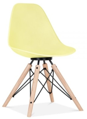 Antona Chair In Lemon With Aq Black Frame Front Angle
