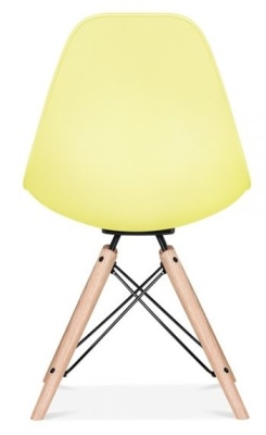 Antona Chair In Lemon With A Black Frame Rear Angle