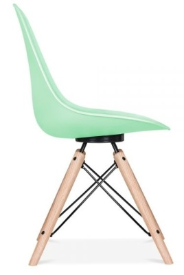 Antona Chair In Pastel Green And Black Frame Side View