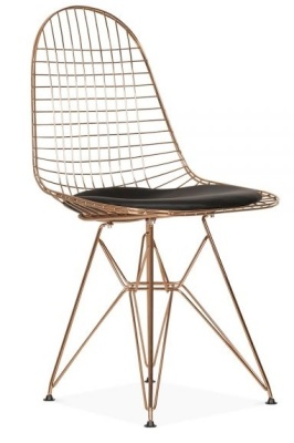DKR Eames Chair Copper Frame Front Angle