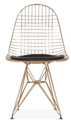 Dkr Chair With A Copper Frame Front View