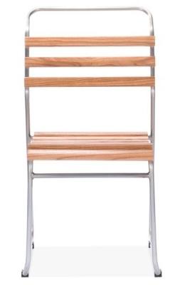 Bauhaus Slat Chair Gun Metal Fron Shot