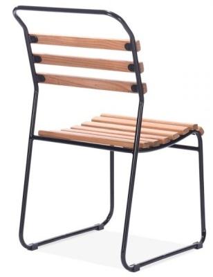 Bauhaus Chair Black Frame Rear Angle